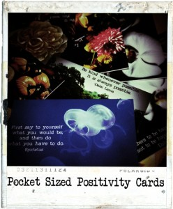 """Pocket Sized Positivity Cards"", photography, affirmations"