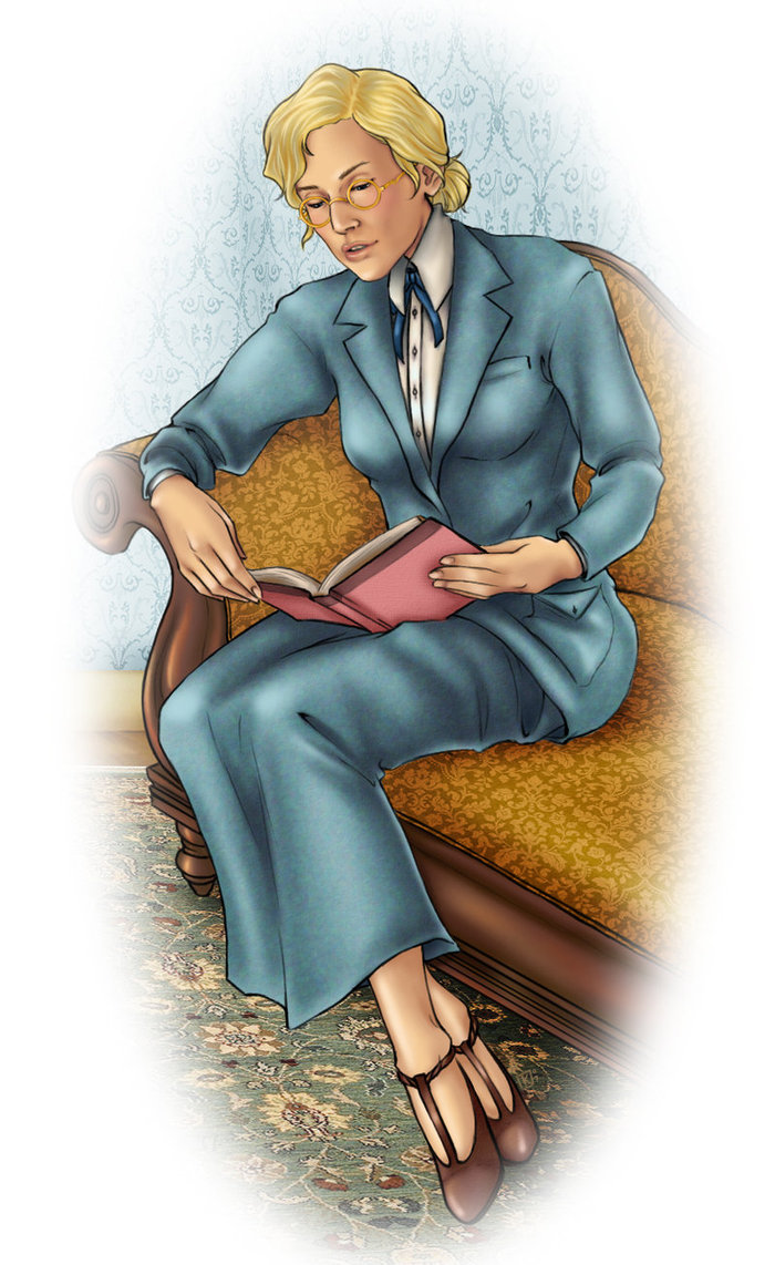 """illustration of woman reading"""