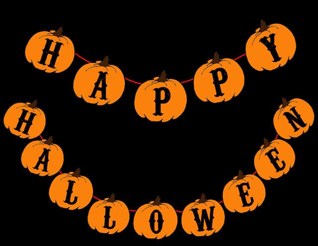 Remarkable image regarding happy halloween banner printable