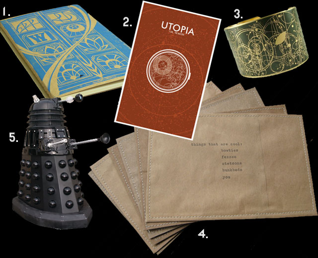 """collection of Doctor Who gifts"""