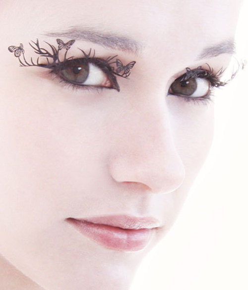 """deer and butterflies lashes by paperself"""