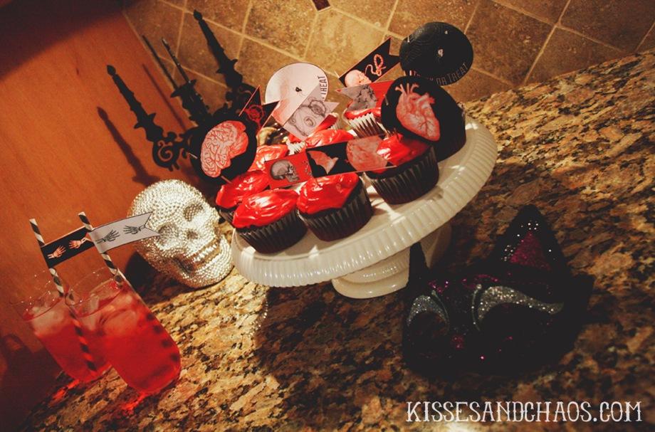 bleeding cupcakes