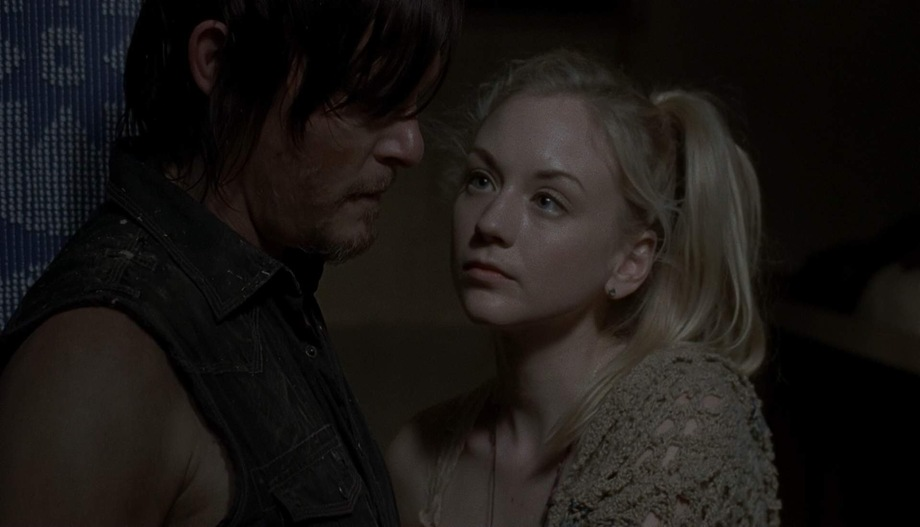 Daryl and Beth on The Walking Dead