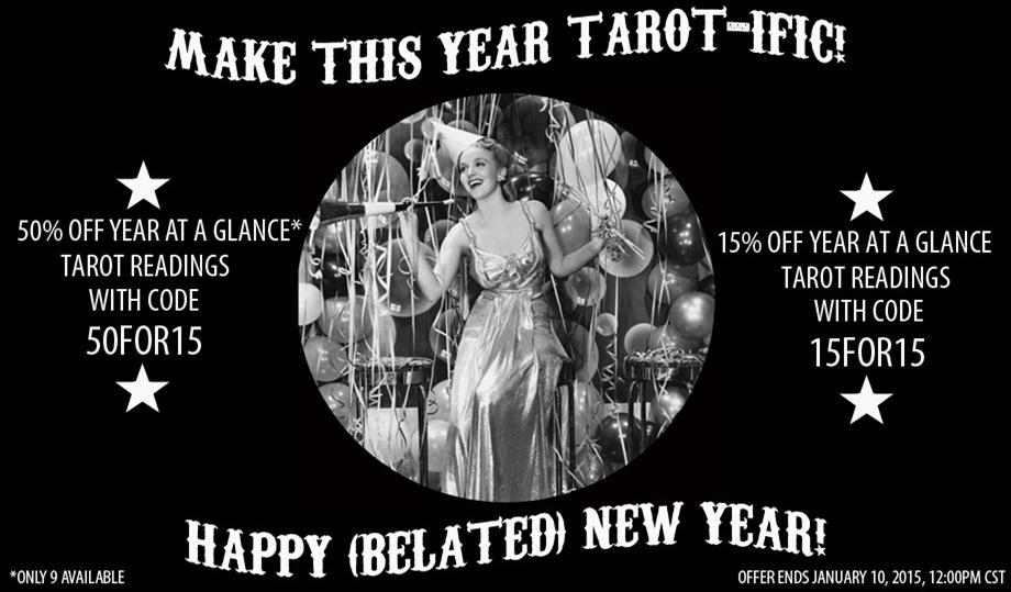 Better Late Than Never new year tarot sale