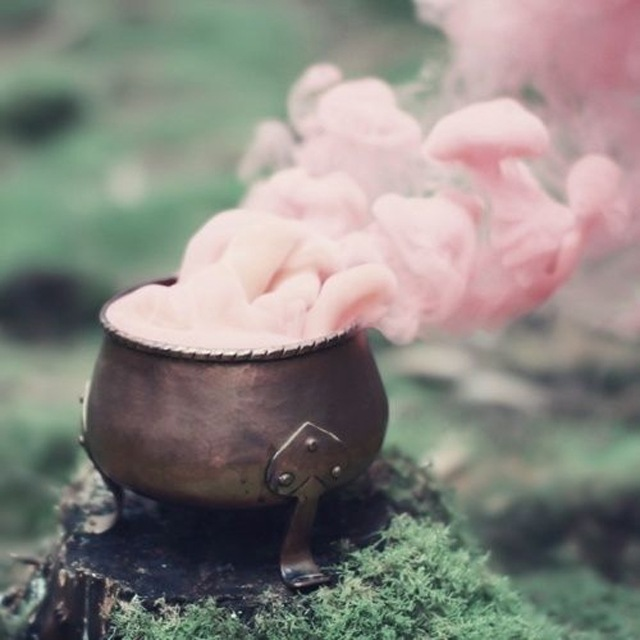 pretty pink cauldron